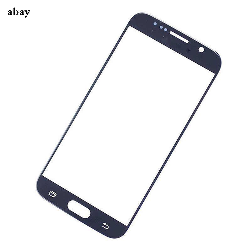 استبدال الزجاج الخارجي لسامسونج غالاكسي S6 G920 G920F شاشة تعمل باللمس الجبهة الزجاج الخارجي عدسة و لاصق