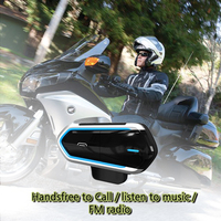 Motorcycle Helmet Intercoms For Helmet Motorcycle Intercom Moto Bluetooth Intercom Motorcycle Interphone Headphones FM Radio