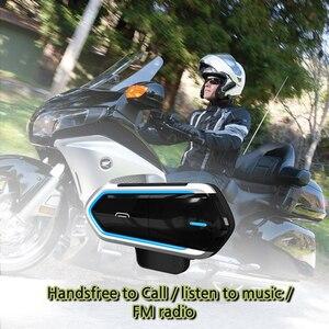Image 1 - אופנוע קסדת רמקולי קסדת אופנוע אינטרקום Moto Bluetooth אינטרקום אופנוע האינטרפון אוזניות FM רדיו
