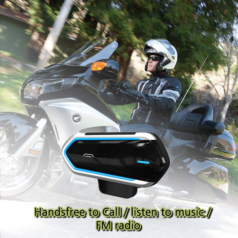 Motorcycle Helmet Intercoms For Helmet Motorcycle Intercom Moto Bluetooth Intercom Motorcycle Interphone Headphones FM Radio-in Helmet Headsets from Automobiles & Motorcycles