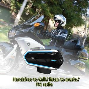 Image 1 - Motorcycle Helmet Intercoms For Helmet Motorcycle Intercom Moto Bluetooth Intercom Motorcycle Interphone Headphones FM Radio