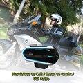 Motorrad Helm Gegensprechanlagen Für Helm Motorrad Intercom Moto Bluetooth Intercom Motorrad Sprech Kopfhörer FM Radio-in Helm-Headsets aus Kraftfahrzeuge und Motorräder bei