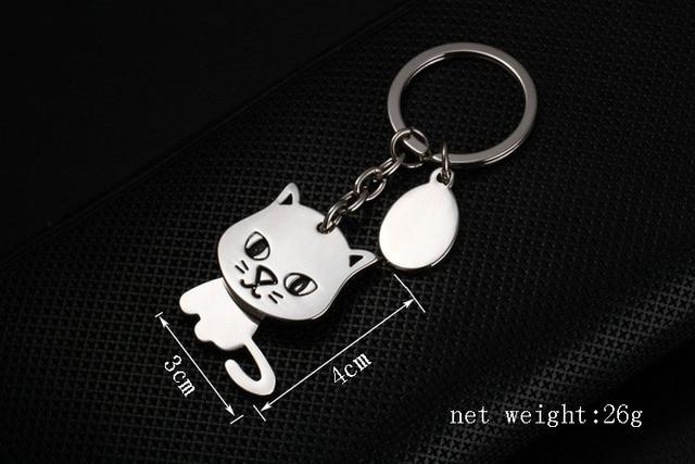 cat keychain cute key ring for women kitty key chain key holder high quality portachiavi llaveros chaveiro bag charm