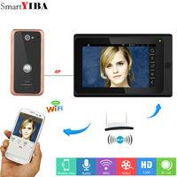 SmartYIBA 7inch Wireless/Wired Wifi IP Video Door Phone Doorbell Intercom Aluminum Alloy Wired Camera Night Vision