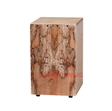 Afanti Music Rotten Wood Birch Wood Natural Cajon Drum KHG 194