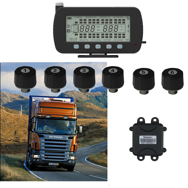 Truck TPMS Truck Tire Pressure Monitoing System 8 tires 10 tires 20 tires Pressure Range 0