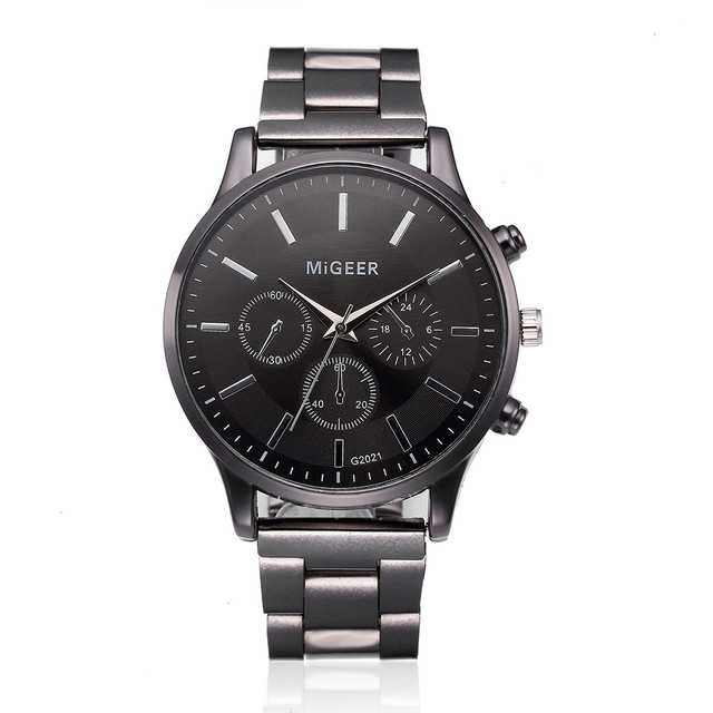 Fashion Man Crystal Stainless Steel Analog Quartz Wrist Watch men watch reloj ho