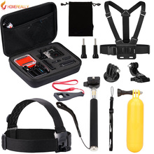 Value Pack Action Camera Accessories Kit for Gopro Hero 5 4 3 SJCAM SJ4000 SJ5000 SJ6000 Xiaoyi Bundles with Chest Harness Mount