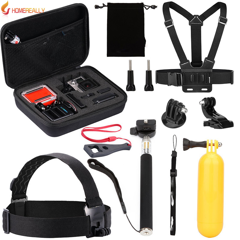 HOMEREALLY Value Pack For Gopro Yi Accessory Kit for Gopro Hero 5 4 3 SJ4000 SJ5000 SJ6 SJ7 Bundle With Chest Harness Mount