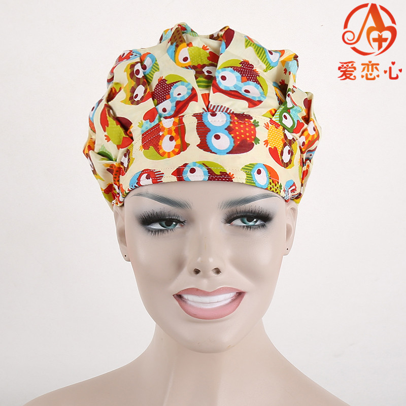 Hot Sale! AI LIANXIN  Surgical bouffant caps for women with long hair ai lianxin surgical bouffant caps one size adjustable animal forest alx 192