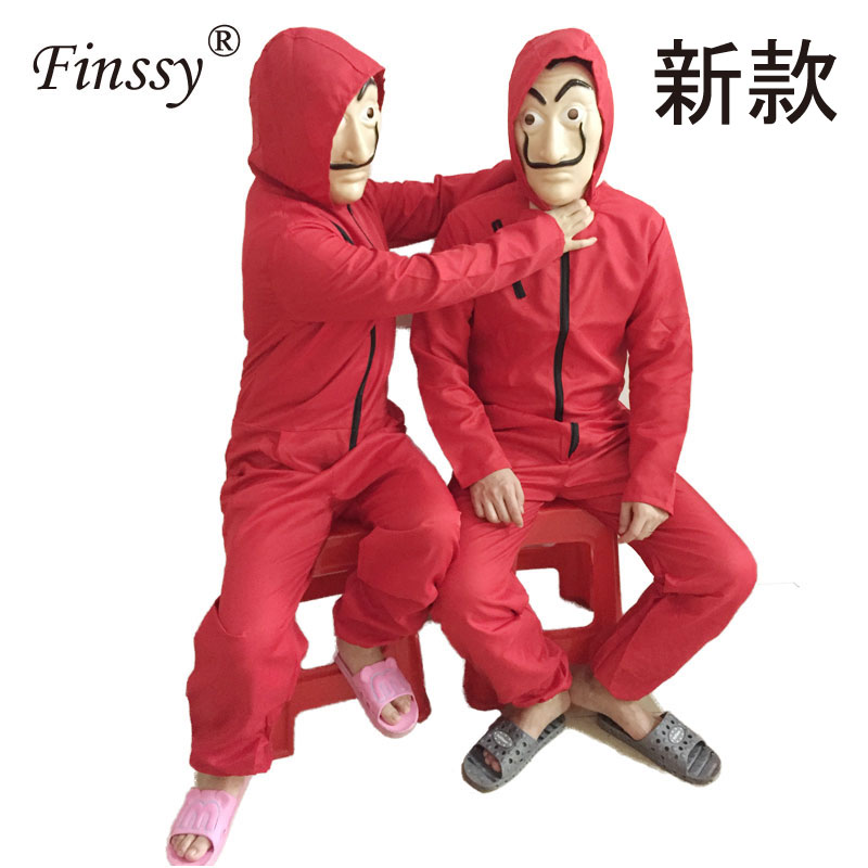 Money Heist The House of Paper La Casa De Papel Dali Costume for Men Carnival Halloween Costume for Women Party Dress With Mask