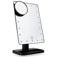 Regolabile 20 LED Lampade Pieghevole Specchio Per Il Trucco Moda Touch Screen Portatile Lente di Ingrandimento Vanity Tavolo specchio per Il Trucco Cosmetico