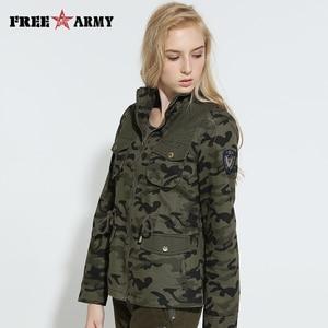 Nuevas chaquetas de otoño prendas de vestir exteriores de sarga de algodón Ali chaqueta de camuflaje informal de mujer abrigo de talla grande abrigos y chaquetas militares