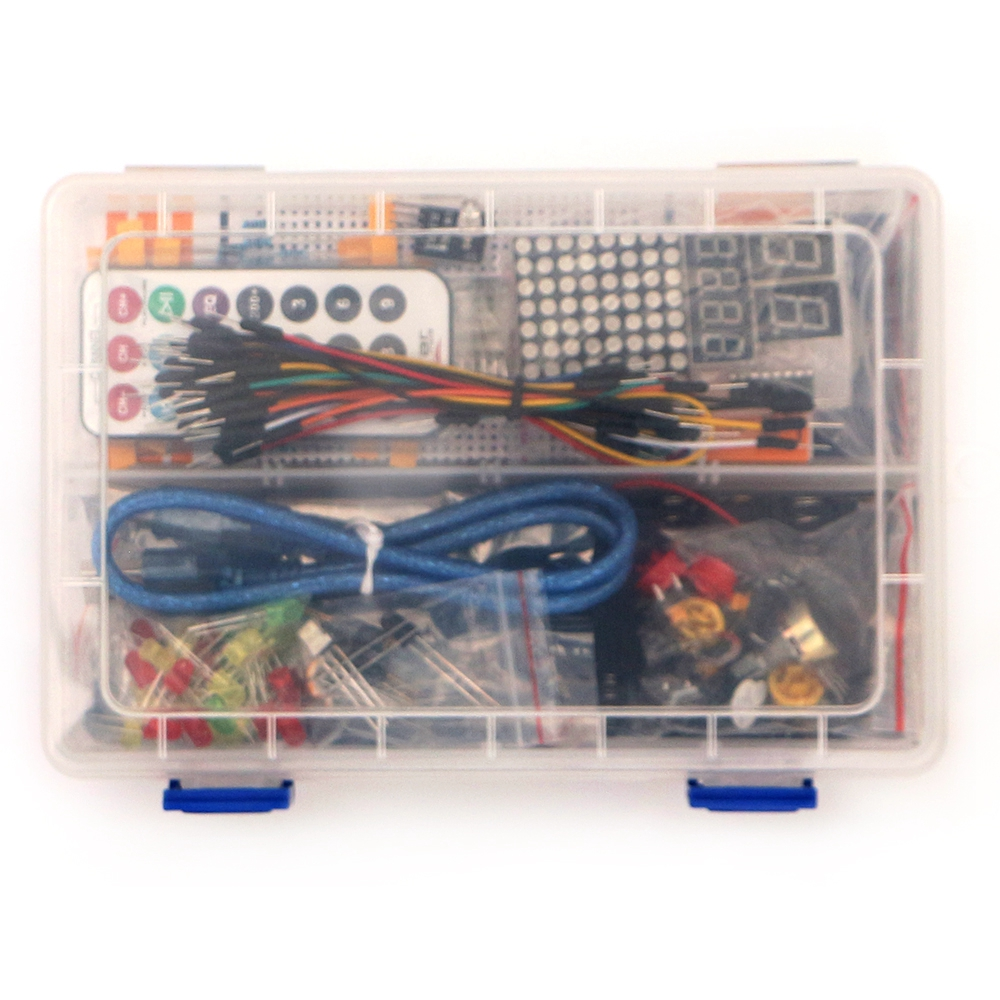 Kit for ardui uno with mega 2560 / lcd1602 / hc-sr04 /dupont line in plastic box деревянные игрушки томик лото предметы 48 шт