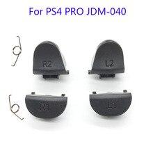 20 סטי JDS 040 JDM 040 בקר טריגר החלפת כפתור L1 R1 L2 R2 עם אביב עבור PS4 פרו בקר תיקון חלק