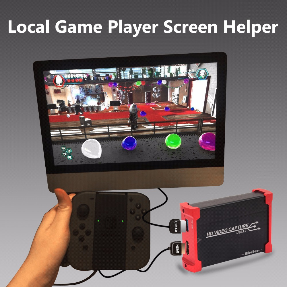 MiraBox for HD Video Capture for Youtube Live Streaming USB 3.0 HD Video Game Capture Box for PS3 PS4 One