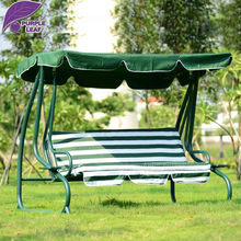 Converting Outdoor Green white stripe Swing Canopy Hammock  Patio Deck Furniture
