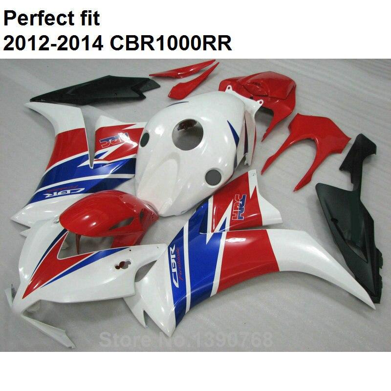 Moto brand new carrozzeria kit carena per Honda CBR1000RR 12 13 14 bianco rosso nero carene CBR 1000 RR 2012-2014 CN16
