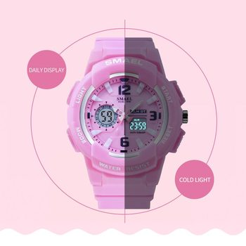 Children Watches For Boys Girl SMAEL Kid Watch Waterproof Sport Alarm Clock 1643 Christmas Presents Watch For Kids Digital Watch 5