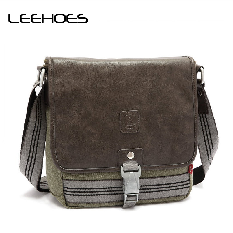 все цены на  New Fashion Men Shoulder Crossbody Bag Canvas Briefcase Men Casual Travel Bags Military Men Messenger Bags Business Shoulder Bag  в интернете