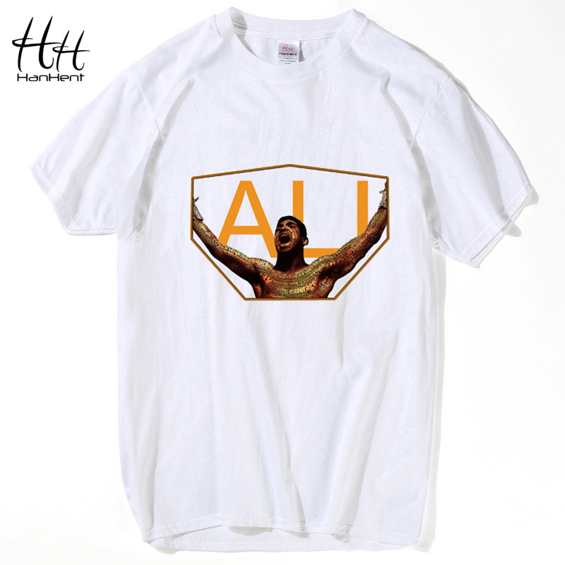 Hanhent champion muhammad ali t shirts men personalized for Custom cotton t shirts