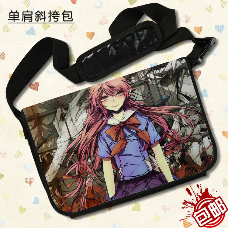 Anime Mirai Nikki Cosplay Gasai Yuno Cos Anime bag shoulder bag Messenger bag computer bag student Handbags child birthday gift 2 pcs new 2 54mm pitch 2x20 pin 40 pin female double row long pin header strip pc104