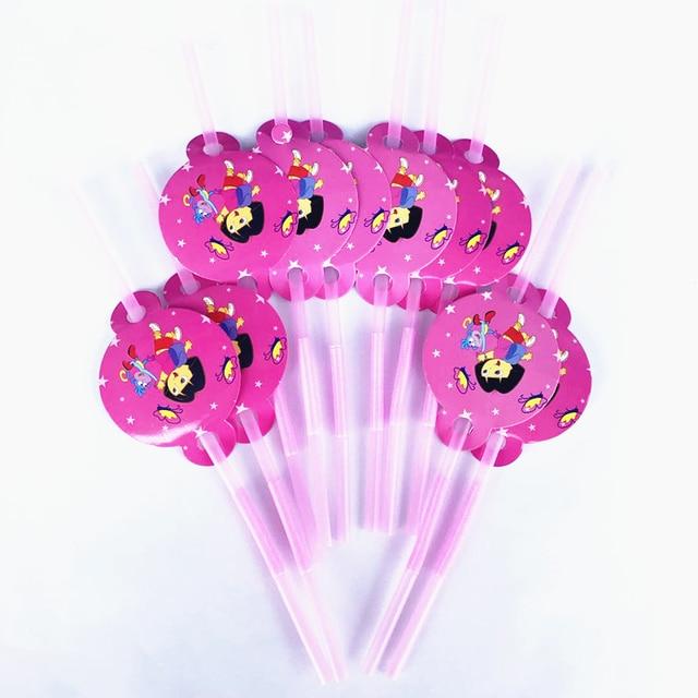 10pcs Dora Plastic Drinking Straws Baby Shower Decorations Grand