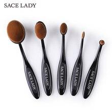 SACE SEÑORA Maquillaje Pinceles Set Fundación cepillo de Dientes Highlighter Brush Kit de Herramienta Cosmética Delineador de Ojos En Polvo de Sombra de Ojos Maquillaje de la Marca
