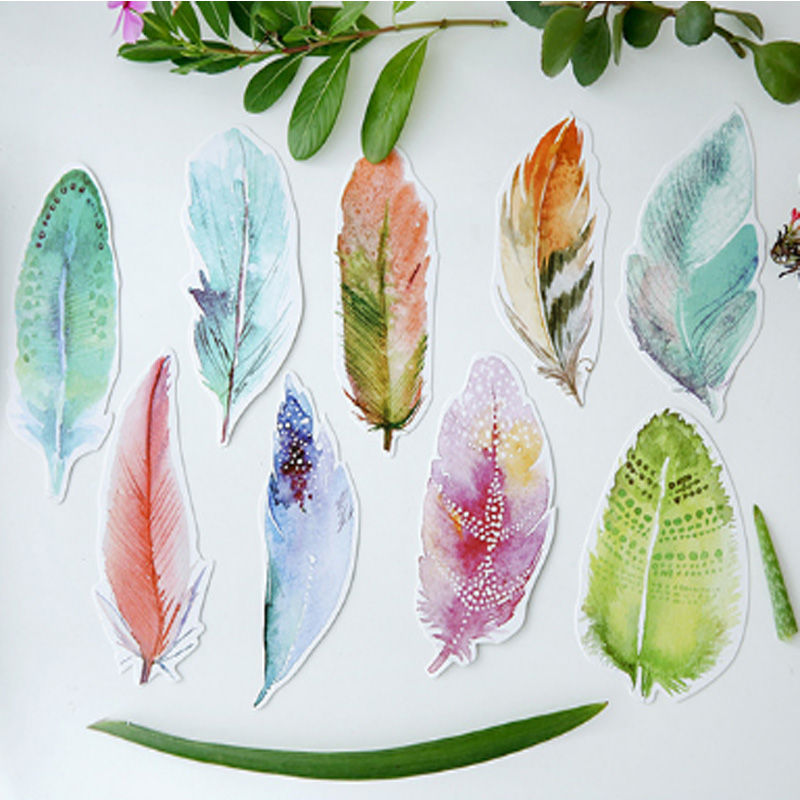 30 pcs/pack Beautiful creative feather personality Greeting Card Postcard Birthday Letter Envelope Gift Card Set Message Card 30 pcs pack creative cup of coffee shape coffee diary postcard diy envelope gift birthday card mini message card paper bookmark