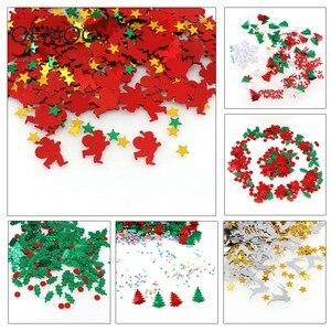 Рождественская серия 15 г, Рождественская елка, снежинка, Санта-Клаус, Сика, олень, конфетти для свадьбы, рождественские украшения, принадлеж...