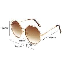 FREE SHIPPING Hexagonal Oversized Sun Glasses JKP900