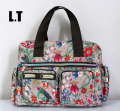 2017 Lady Nylon Bag Flower Print Diaper Overnight Weekender Changing Travel Picnic Handbag Funky Duffle Bag Satch
