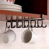 Stainless Steel Cupboard Hanger Kitchen Tool Towel Chest Hook Closet Hanging Cup Drainer Wardrobe Clothing Storage Hooks