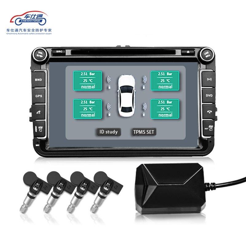 USB Android la pression DES pneus TPMS/Android navigation surveillance de pression des pneus système d'alarme/transmission sans fil TPMS - 2