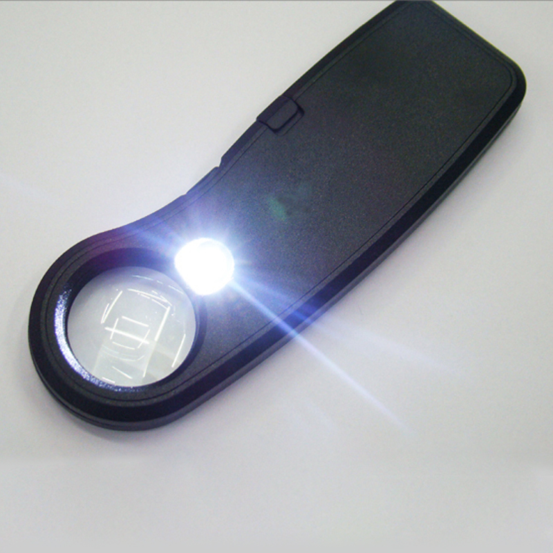 20X 22mm Card Type Magnifiers with LED Portable Jewelry Loupe Reading Magnifying Glass Lens Illuminated Pocket Magnifier