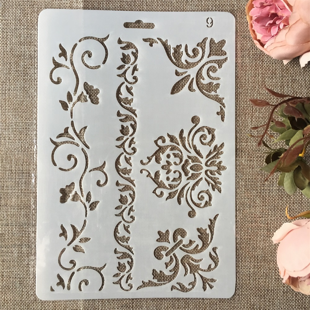 New 26cm Floral Frame Edge DIY Craft Layering Stencils Painting Scrapbooking Stamping Embossing Album Paper Card Template
