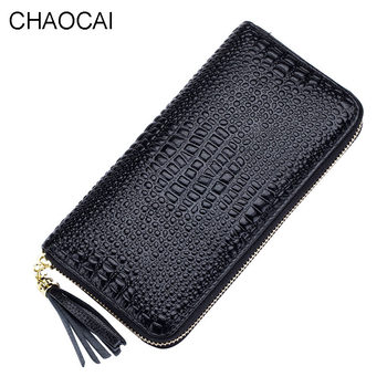 fashion women wallet genuine leather wallet Alligator Design female Cow Leather purse casual money clips New arrival