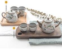 Japanese style  embroidered bird tea set