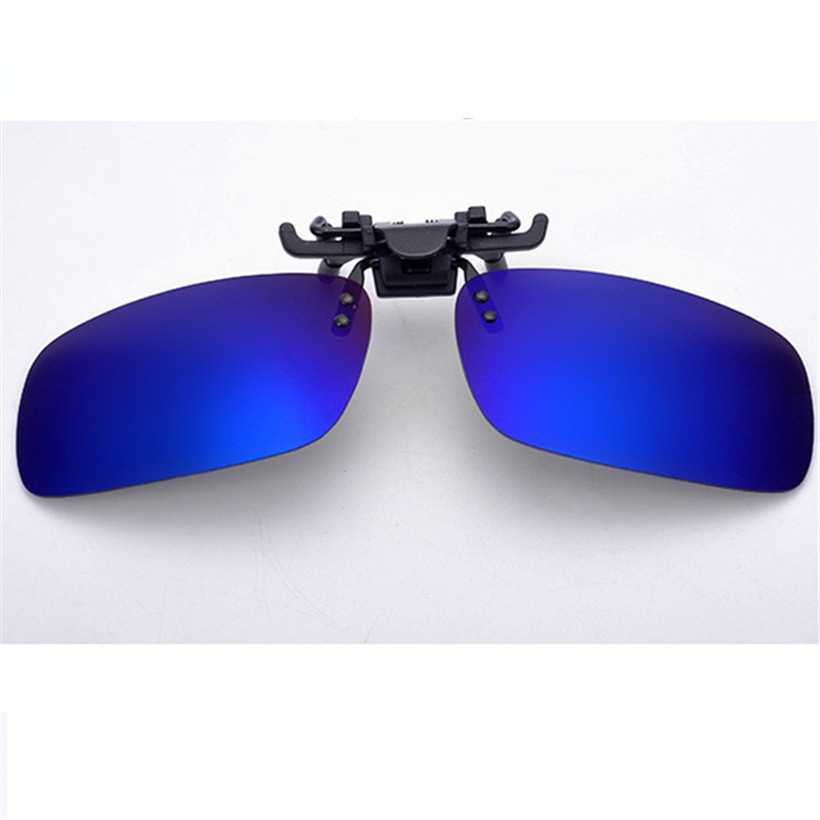 Mens Polarized Clip on Sunglasses Square Polaroid Lens Men Women Myopia Flip Up Sun Glasses Night Vision Driving Clip on Glasses