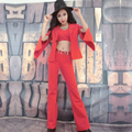 2016 Chica Discoteca Dj Trajes de Danza Jazz Ds Etapa Trajes de Baile Sexy Vestido de Traje Rojo