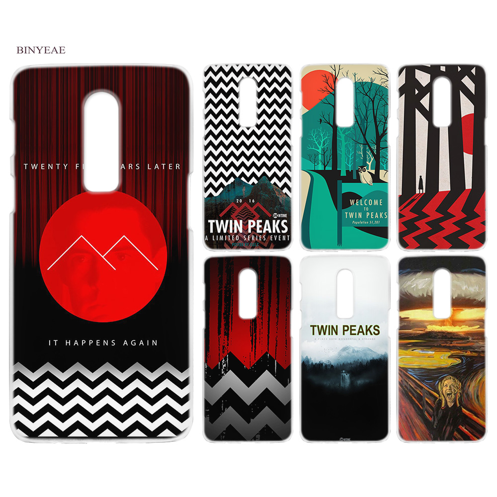 BINYEAE Welcome Twin Peaks Hard Plastic Clear Transparent Coque Case Cover Fashion for Oneplus 1+ 6 5T