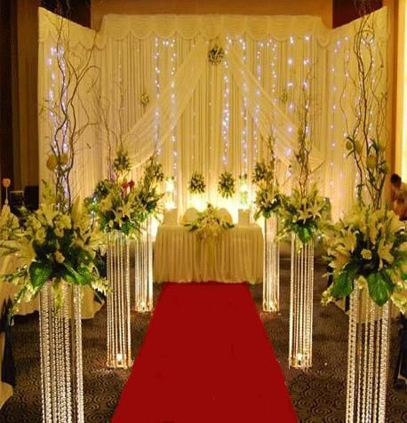 80cm Wedding Flower Stand Crystal Road Lead Centerpiece Event Party Decoration 10pcs Lot