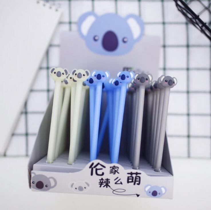 3 pcs/lot Lovely Koala Gel Pen Signature Pen Escolar Papelaria School Office Supply Promotional Gift недорого