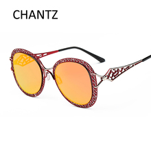 New Fashion Hollow Sunglasses Women 2017 Luxury Brand Reflective Coating Driving Polarized Sun Glasses UV400 Lentes De Sol Mujer