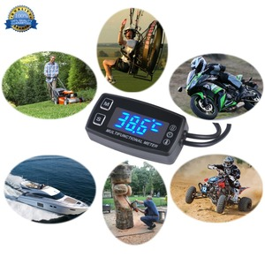Image 3 - Digital LED Display Tachometer Hour Meter Tach with Temperature Sensor Guage for 2/4 Stroke Engines Chain Saws Tractors 035LT