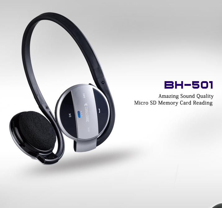 Electronic 2014 New Dricore Bh 501 Bluetooth Headset Headphone With Internal Microphone Micro Sd Memory Card Reading Headphone Oem Headphones With Built In Mp3headphones Philips Aliexpress