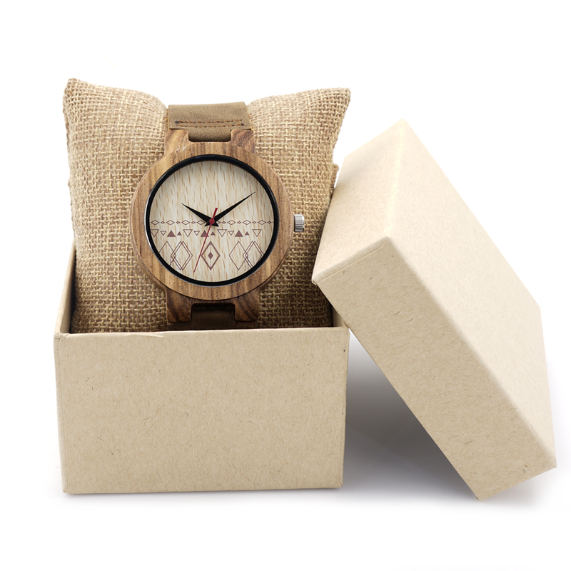 BOBO BIRD Fashion Luxury Mens Fashion Wood Watches with Leather Bands for Men Quartz Watches in