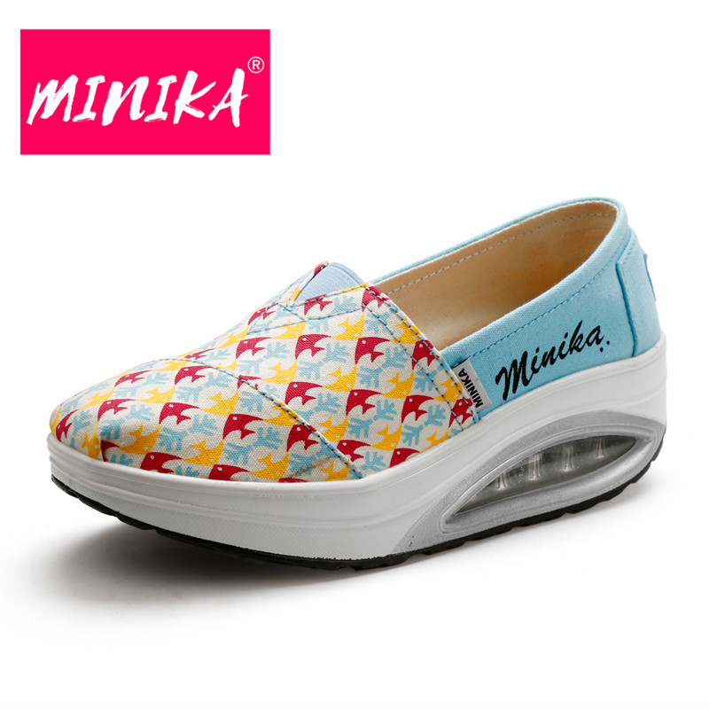 MINIKA 2017 Travle Women Casual Sko Design Superstar Slip On Comfort - Damesko
