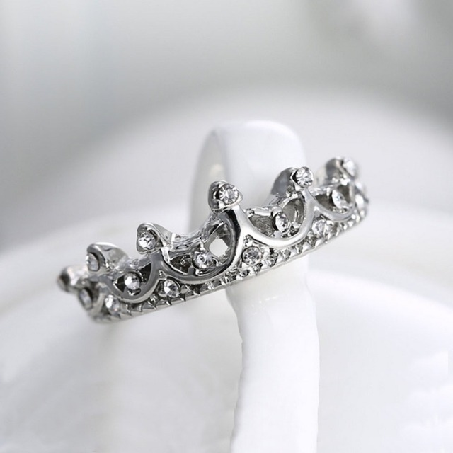 Princess Crown Ring New US Size 5 6 7 8 3