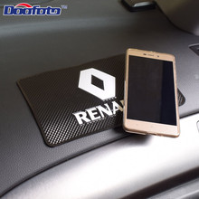 Auto Dashboard Anti Slip phone houlder Mat For Renault Megane 2 3 Duster Logan Clio Laguna
